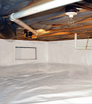A complete crawl space repair system in Cleveland