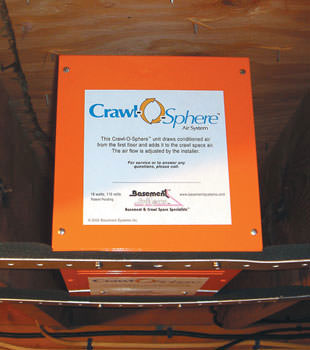 A ventilation fan installed for a crawl space in Manchester