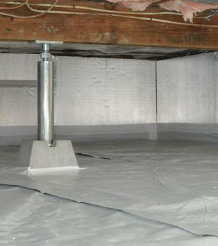 Installed crawl space insulation in Powell