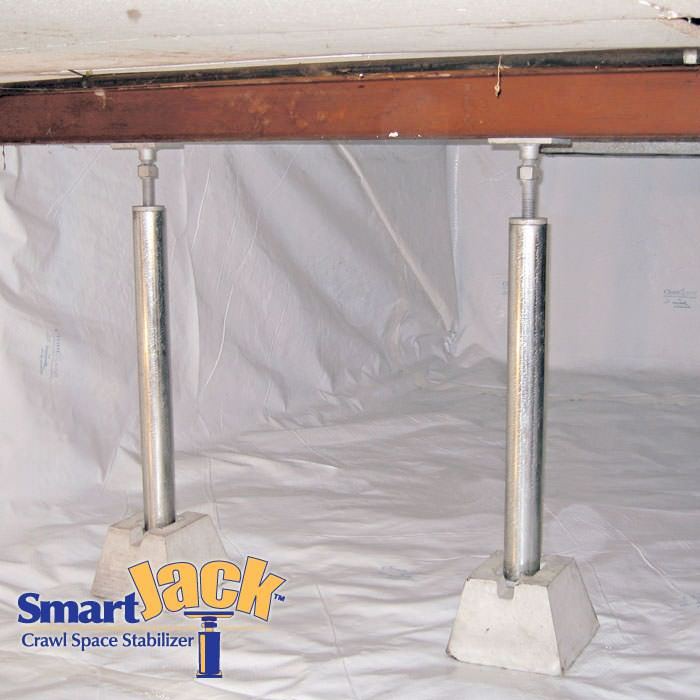Jack Posts Permanent : Crawl space structural support jacks installed in tn