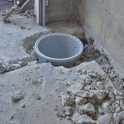 Placing a sump pit in a Somerset home