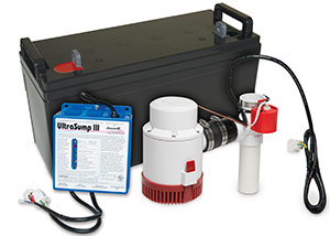 a battery backup sump pump system in Maryville