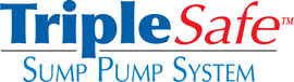 Sump pump system logo for our TripleSafe™, available in areas like Loudon