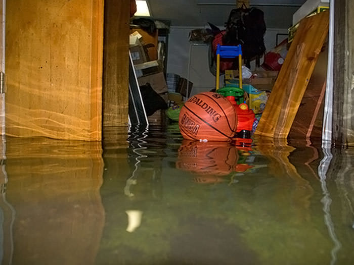 A Flooded Basement Bedroom In Kingston