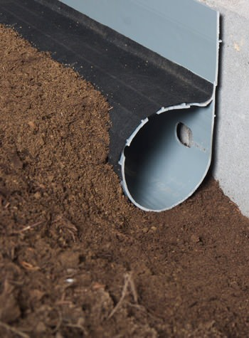 crawl space drain system installed in Seymour