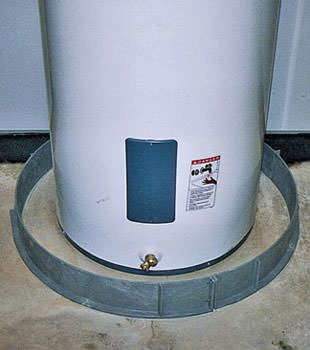 An old water heater in Rogersville, TN with flood protection installed
