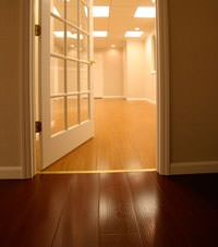 Basement Wood Flooring installed in Crossville, Tennessee and Kentucky