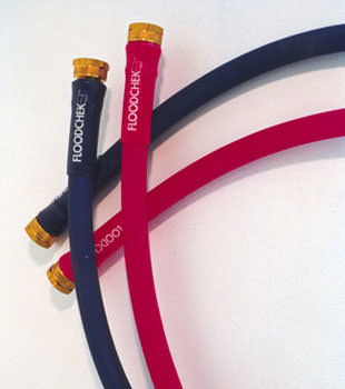 Photo of our FloodCheck washer hoses, available in Newport