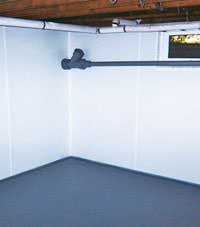 Plastic basement wall panels installed in a Greeneville, Tennessee and Kentucky home