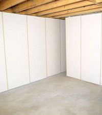 Unfinished basement insulated wall covering in Greeneville, Tennessee and Kentucky